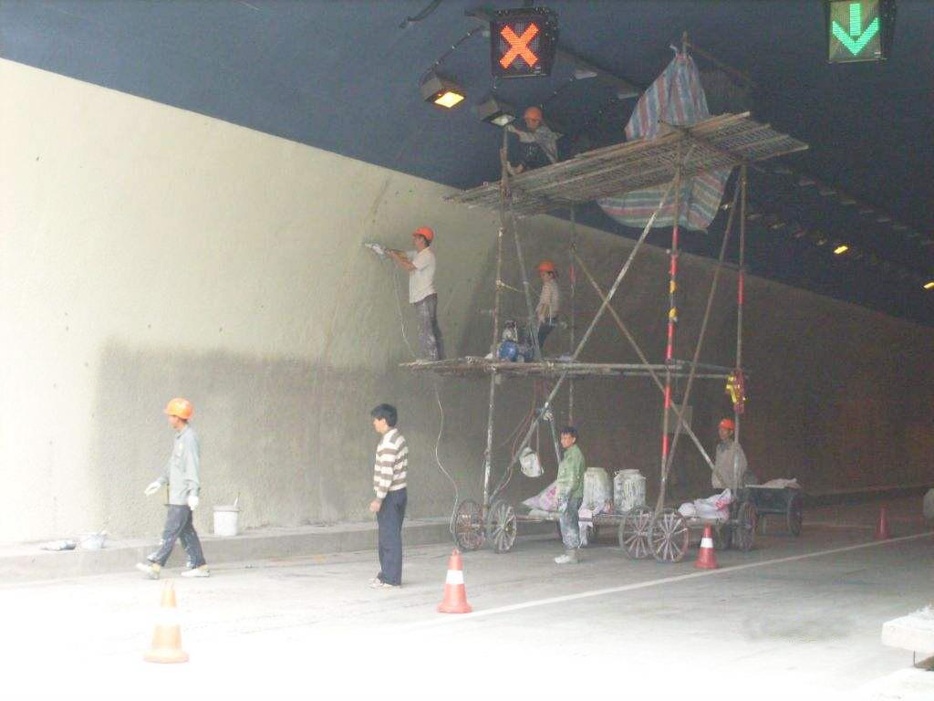 隧道防火涂料施工